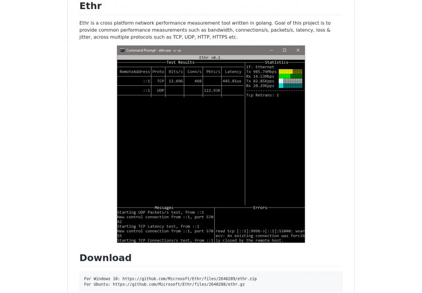 Ethr: un outil cross-OS pour mesurer ses performances réseaux
