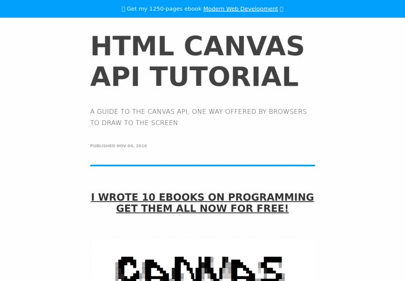 Un tutoriel complet sur les Canvas HTML