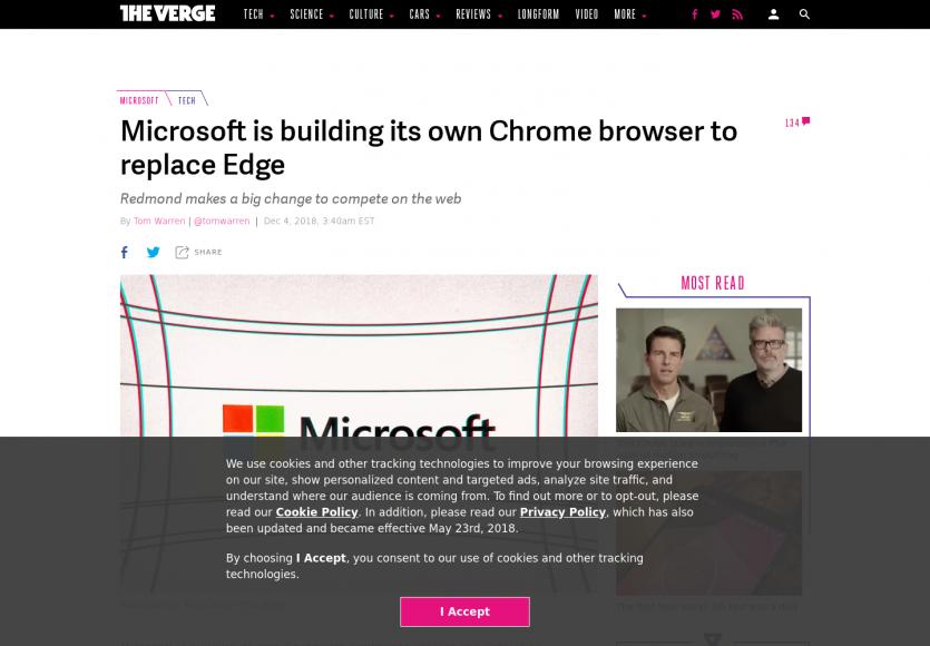 Microsoft va remplacer Edge par un navigateur basé sur Chromium