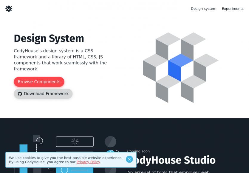 CodyHouse : un framework CSS proposant des composants prêts à l'emploi pour vos pages web