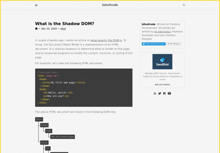 Shadow DOM : Qu'est-ce que c'est ?