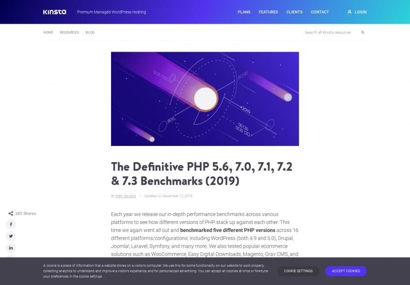 Un benchmark des différentes versions de PHP à partir des CMS et frameworks du moment