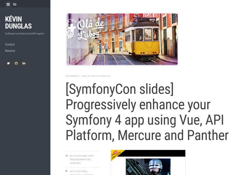 Améliorez votre application Symfony 4 avec Vue.js, API Platform, Mercure et Panther