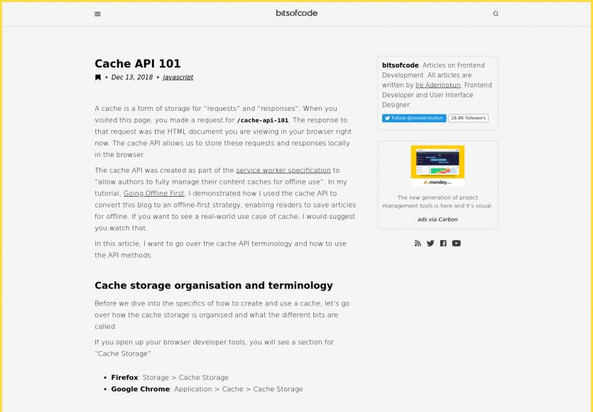 Focus sur l'API Cache avec les Service Workers