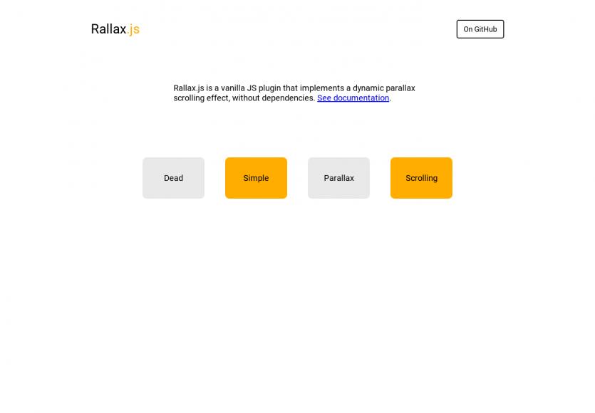 Rallax : ajoutez simplement des effets de parallax à vos pages web via ce plugin VanillaJs