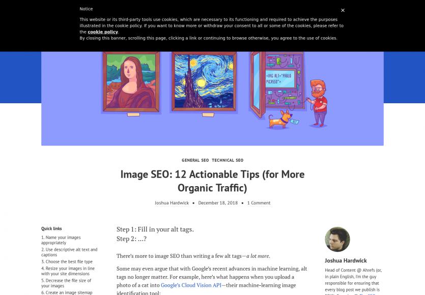 12 astuces pour améliorer le référencement naturel de vos images