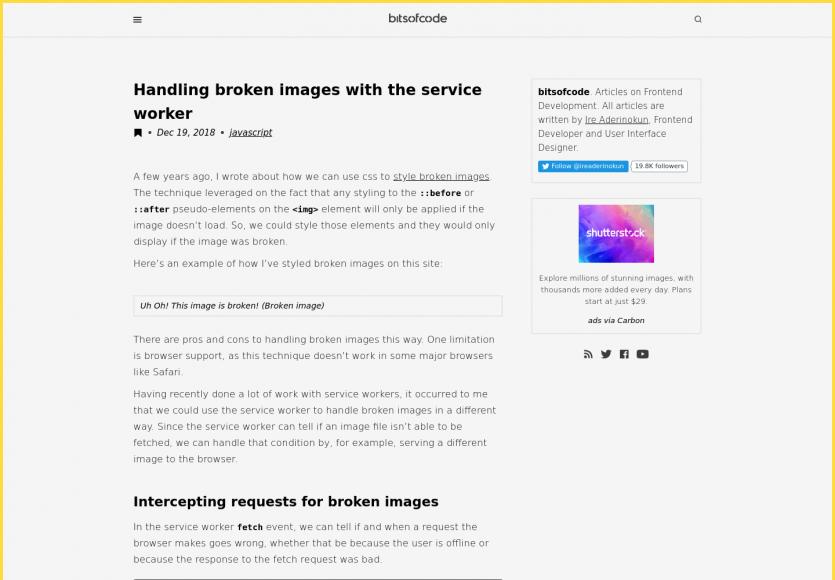Remplacer les images cassées par une image alternative avec un Service Worker
