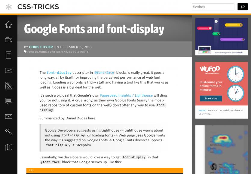 Google Font et font-display