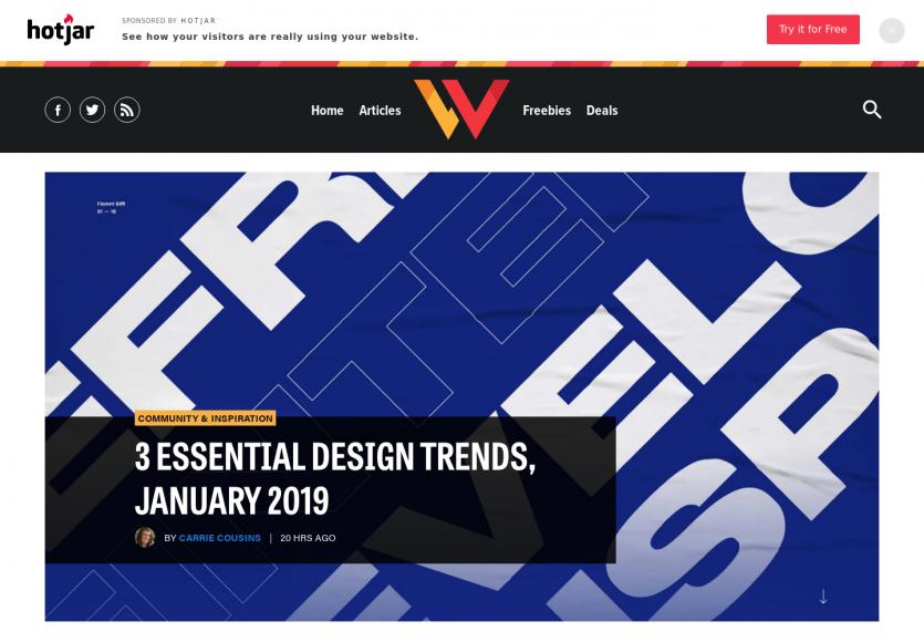 3 tendances webdesign pour janvier 2019