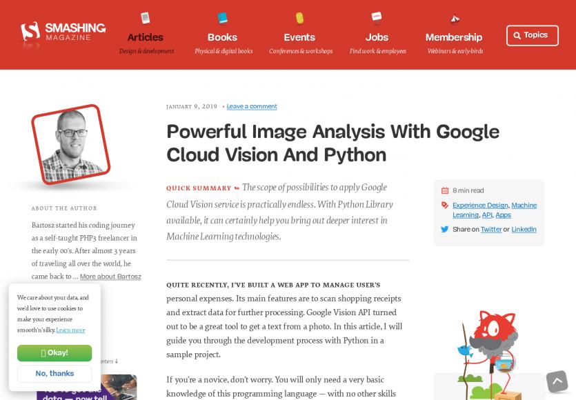 Un système d'analyse d'images performant avec Google Cloud Vision et du Python