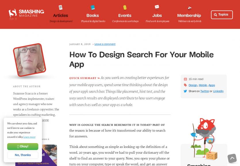 Comment designer une recherche pour mobile