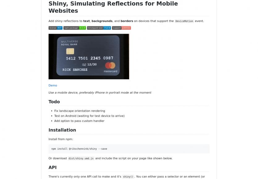 Simuler des effets de brillance et reflets en mobile