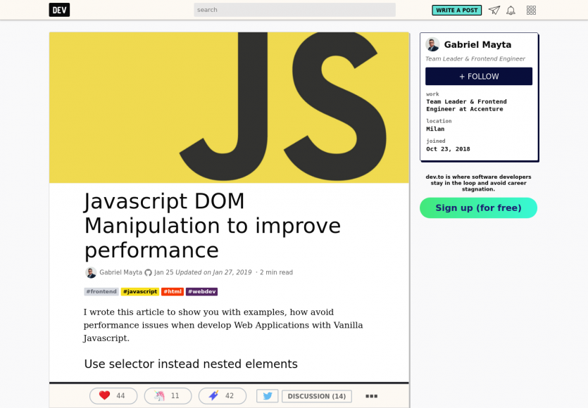 Optimisez les performances Javascript lors de la manipulation du DOM