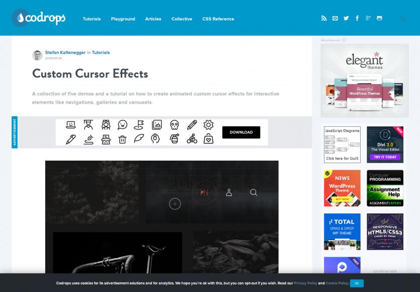 Créer ses propres effets de curseur de souris personnalisés