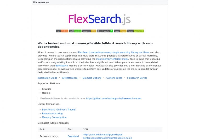 FlexSearch.js - Une lib JS pour faire de la recherche Full text performante