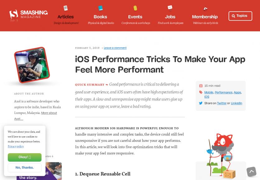 Des astuces de développement sur iOS pour créer des apps avec un ressenti de performance