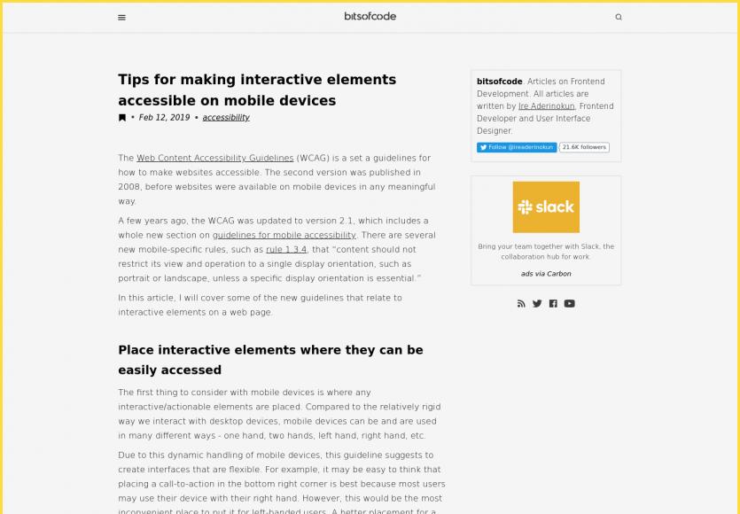 7 astuces pour des éléments d'action visibles sur mobile