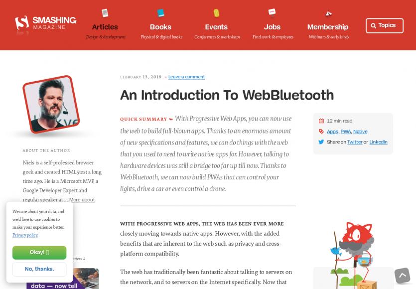 Une introduction à l'API WebBluetooth pour vos PWA ou webapps