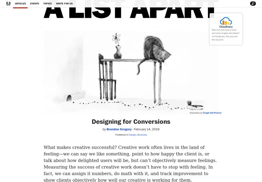 Le design orienté conversions