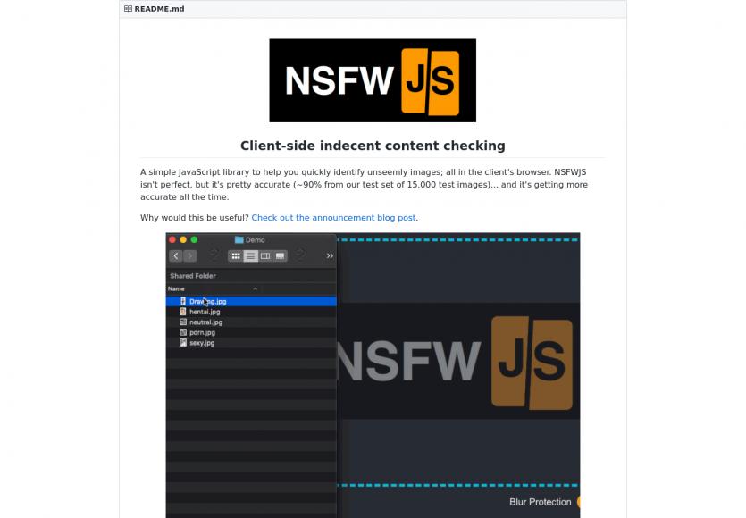 NSFWJS : détectez et floutez automatiquement les images inappropriées