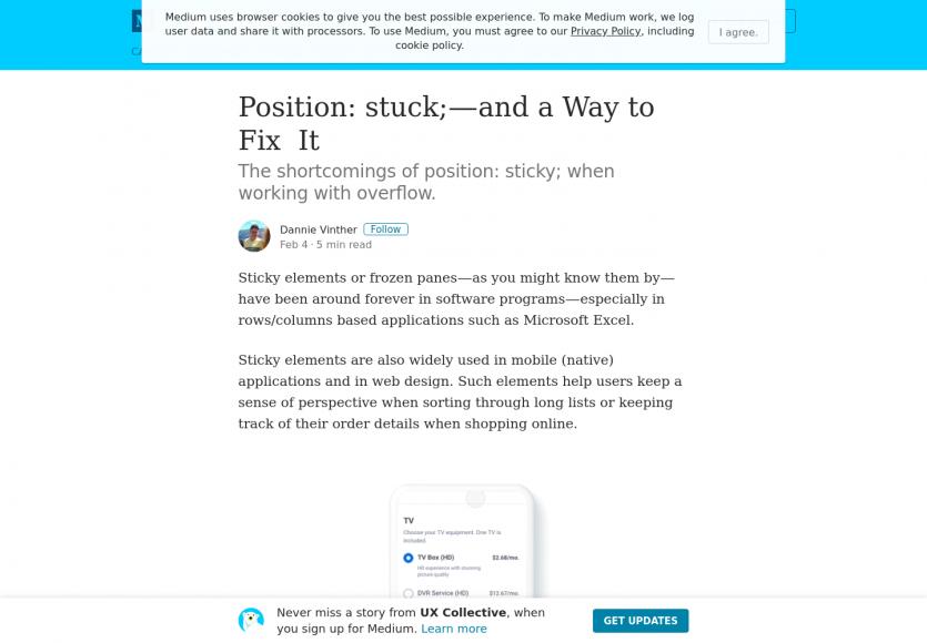 Comment bien utiliser le position: sticky et résoudre les problèmes potentiels