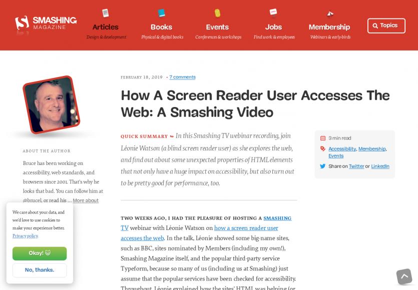 [Vidéo] Comment fonctionne un lecteur d'écran pour personnes mal voyantes ?