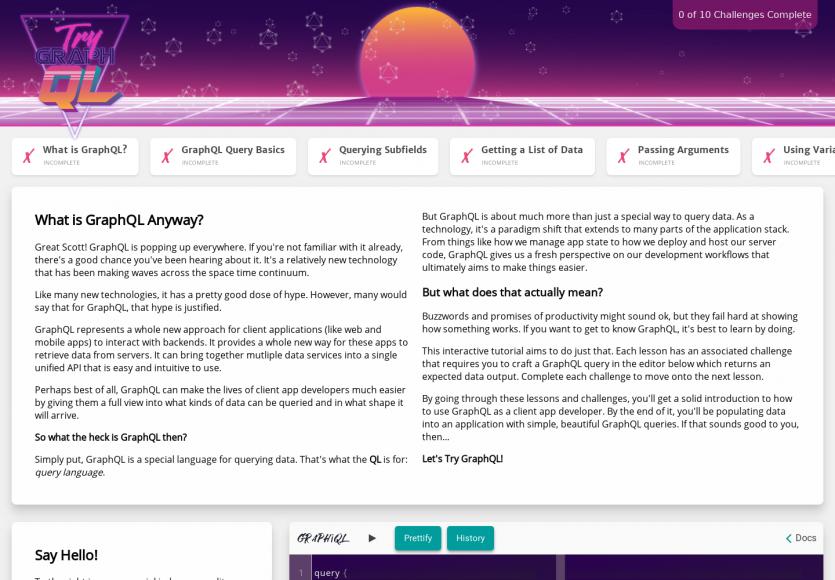 Try GraphQL : un tutoriel interactif pour apprendre à maîtriser GraphQL par étapes