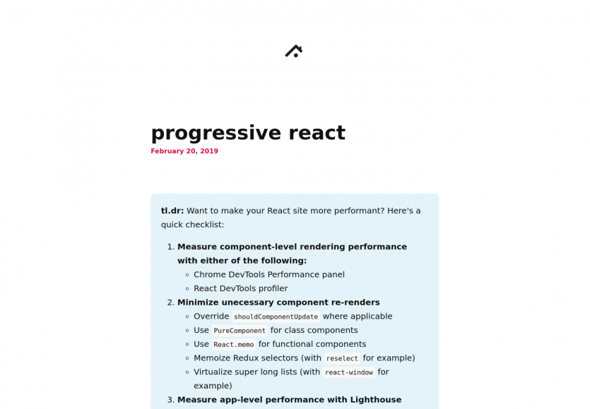 Progressive React : comment créer des apps react plus performantes