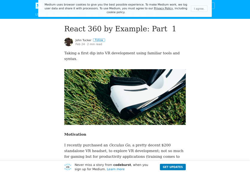 Tuto : développer des apps de réalité virtuelle avec React 360