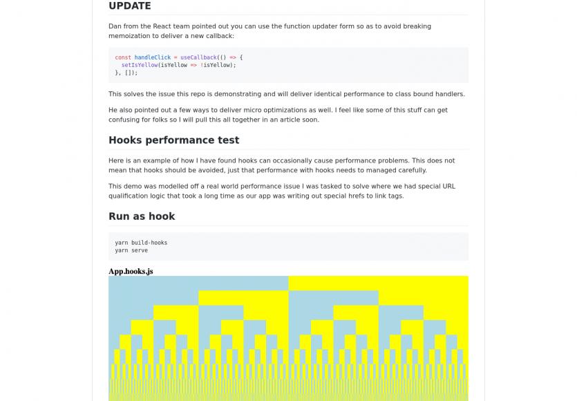 Les Hooks React.js moins performants que l'utilisation de classes ?