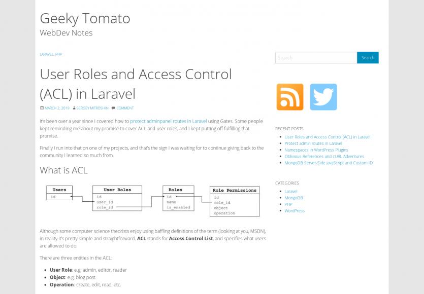 Focus sur les User Roles et ACL dans Laravel