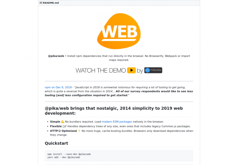 Web : installez directement les dépendances npm depuis votre navigateur sans Webpack ou Browserify