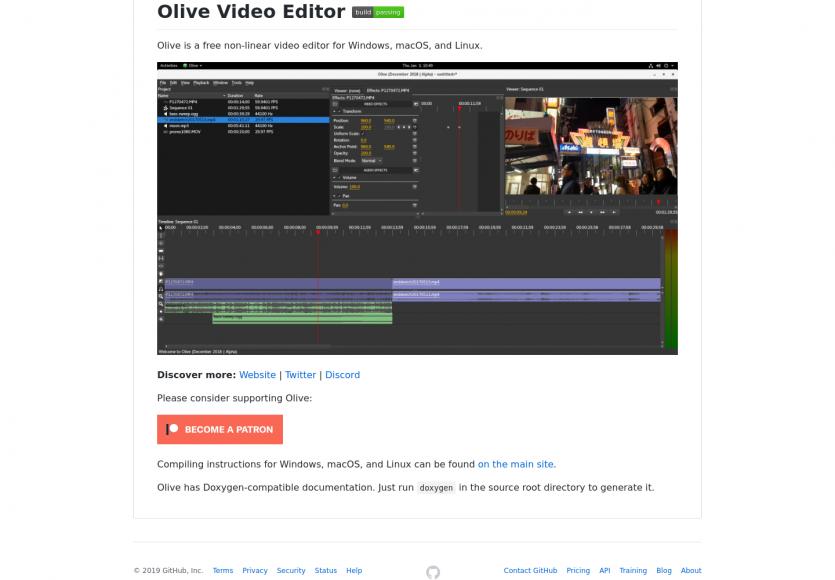 Olive Video Editor : un éditeur de vidéo non-linéaire open source pour Windows, Mac et Linux