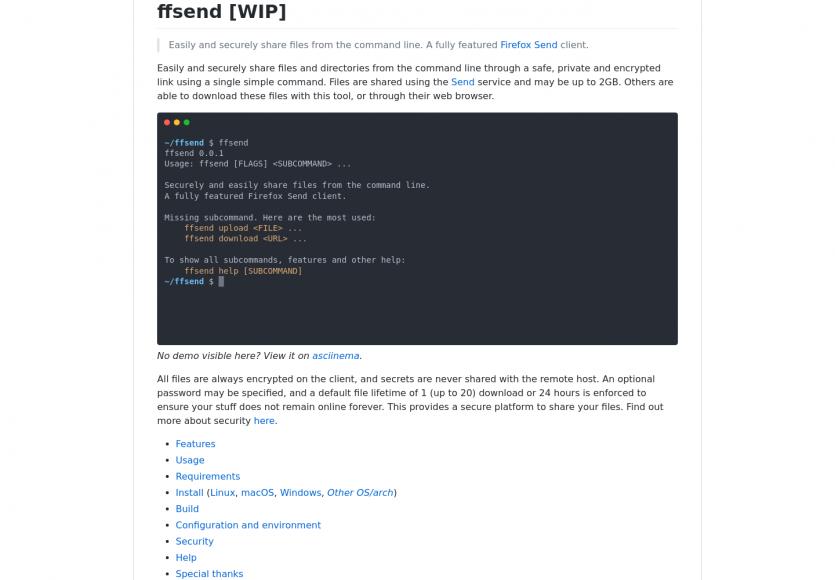 ffsend: une commande pour partager facilement dossiers et fichiers via Firefox Send