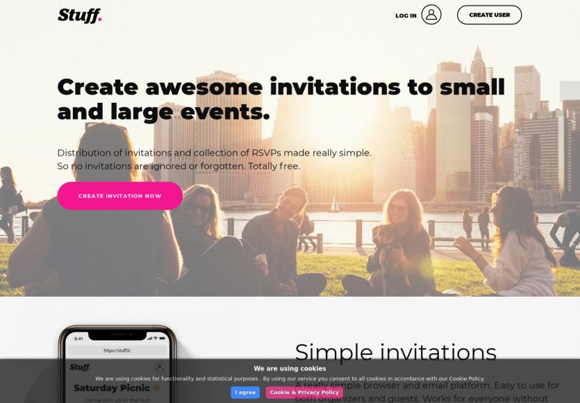 Stuff: une plateforme gratuite pour créer et gérer des événements en alternative à Facebook