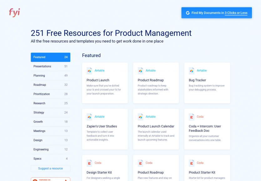 Une collection de templates gratuits basés sur différents services pour la gestion de projet