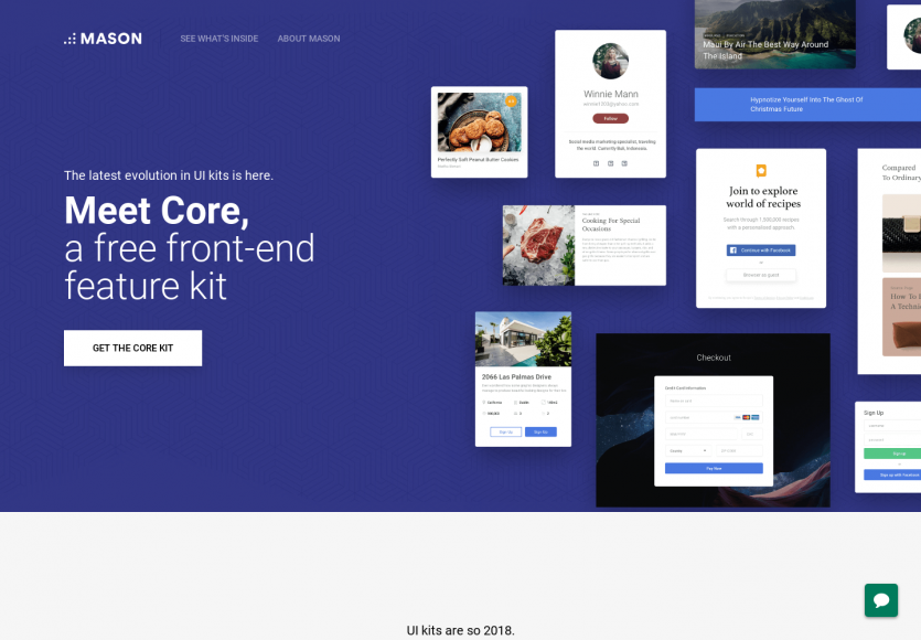 Mason Core: un kit frontend de composants React ou HTML