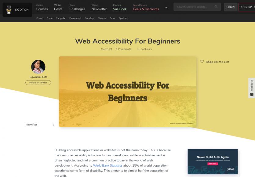 L'accessibilité web pour les débutants