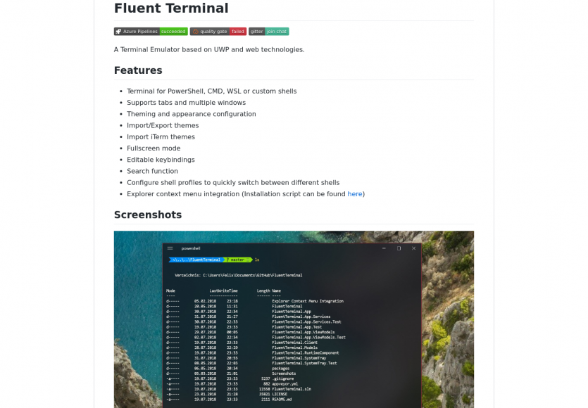 Fluent Terminal: un terminal Windows moderne basé sur UWP et des technos web