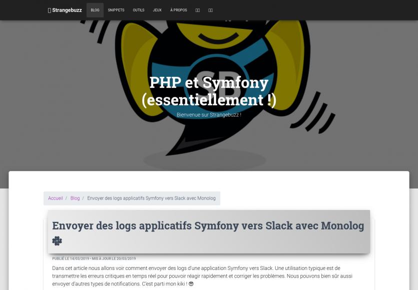 Envoyer des logs applicatifs Symfony vers Slack avec Monolog