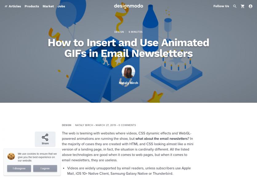 Intégrer des GIFs animés dans un email HTML