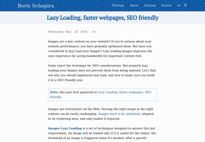 Du lazy loading pour des pages web plus rapides sans impact SEO