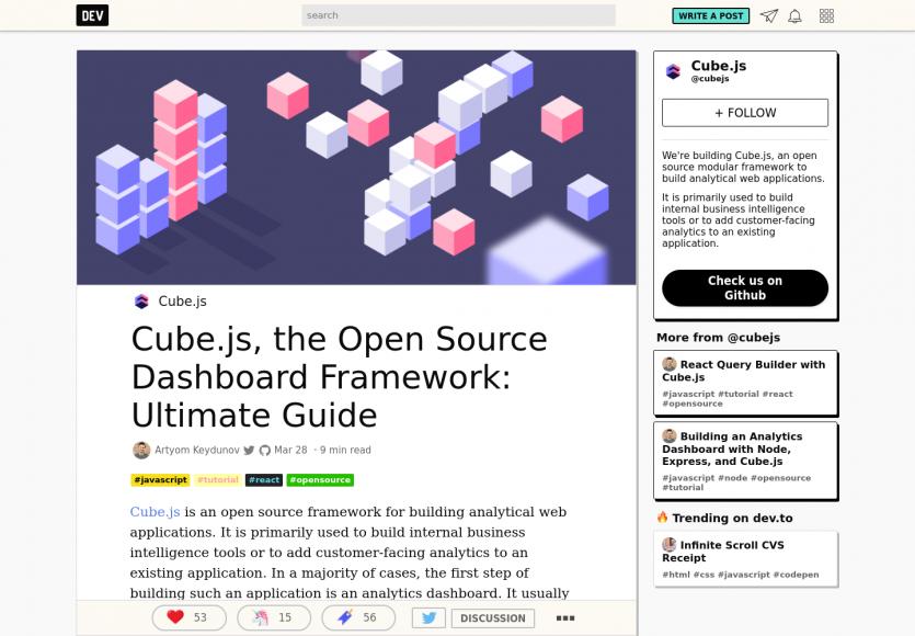 Cube.js - Un guide complet sur le framework de BI JS pour créer vos dashboards