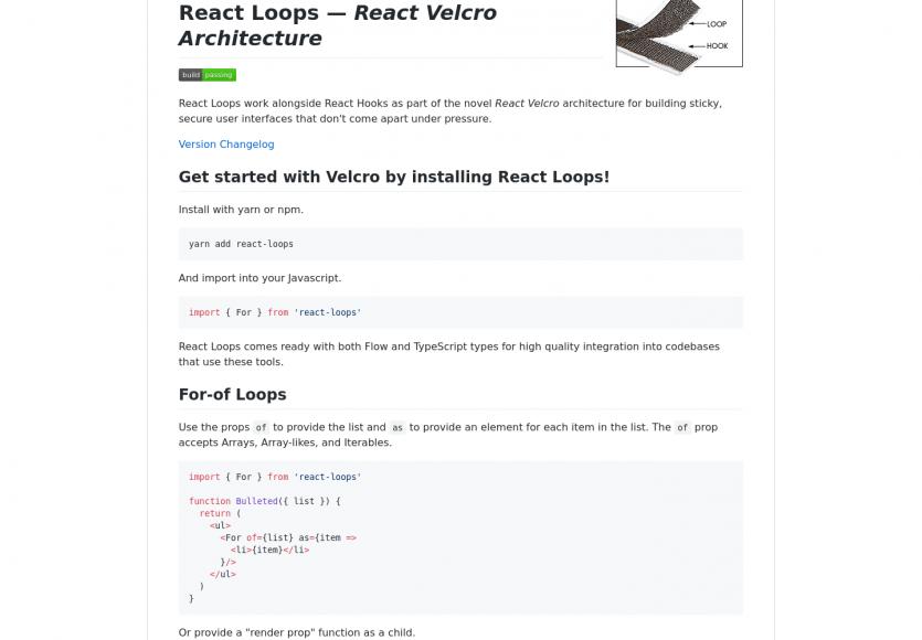 React Loops : Un élément structurant de la React Velcro Architecture fonctionnant avec les Hooks