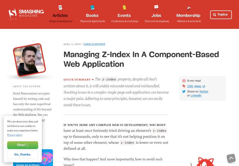 Bien gérer le z-index dans une web app basée sur des composants web