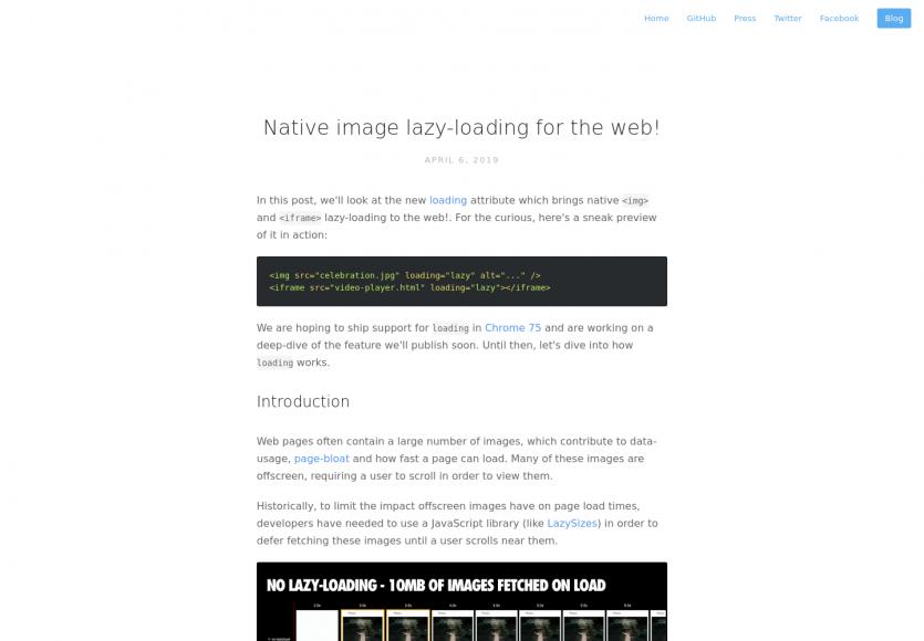 Du lazy loading natif embarqué dans les navigateurs avec loading=lazy