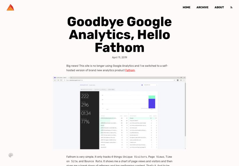 Passer de Google Analytics à Fathom pour un meilleur respect de la vie privée
