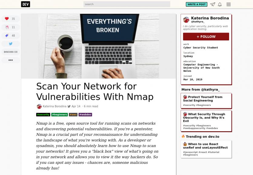 Détectez les éventuelles vulnérabilités de votre réseau à l'aide de Nmap
