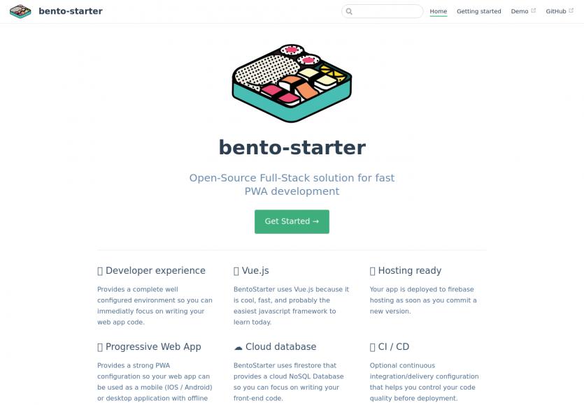 Bento-starter : une solution full-stack pour démarrer le développement d'une PWA