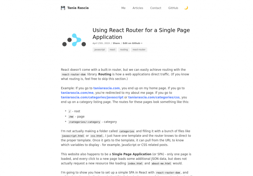 Utiliser React Router pour un projet de Single Page App